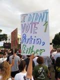 Segno contro Putin Fotografia Stock Libera da Diritti