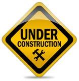 Segno in costruzione Immagini Stock