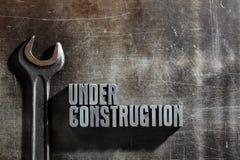 Segno in costruzione Fotografie Stock
