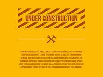 Segno in costruzione, Fotografia Stock Libera da Diritti