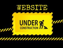 Segno in costruzione del sito Web Immagini Stock Libere da Diritti
