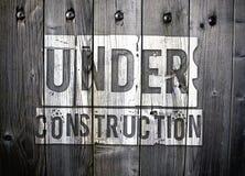 Segno in costruzione Grungy Immagine Stock Libera da Diritti