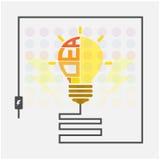 Segno creativo della lampadina Fotografie Stock Libere da Diritti