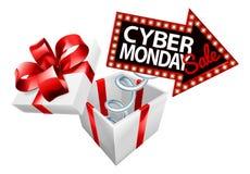 Segno cyber di vendita di lunedì Black Friday Immagine Stock Libera da Diritti