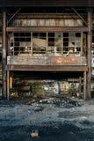 Segno d'annata - impianti d'acciaio spingenti abbandonati di Benwood Immagine Stock Libera da Diritti