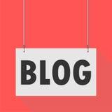 Segno d'attaccatura del blog royalty illustrazione gratis