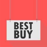 Segno d'attaccatura di Best Buy Fotografie Stock