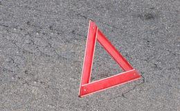 Segno d'avvertimento del triangolo Fotografie Stock Libere da Diritti