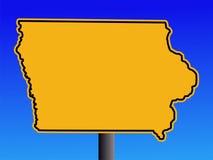 Segno d'avvertimento dello Iowa Fotografia Stock Libera da Diritti
