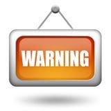 Segno d'avvertimento di avvertenza Fotografia Stock Libera da Diritti