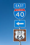 Segno da uno stato all'altro I-40 Fotografia Stock