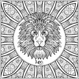 Segno decorativo dello zodiaco sul fondo del modello illustrazione vettoriale