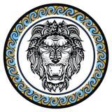 Segno decorativo Leo dello zodiaco Immagine Stock Libera da Diritti