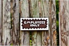 Segno degli impiegati soltanto Immagine Stock