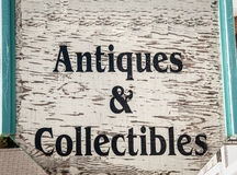 Segno degli oggetti d'antiquariato Immagini Stock Libere da Diritti