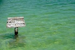 Segno degli squali Fotografie Stock Libere da Diritti