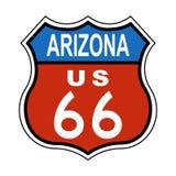 Segno degli Stati Uniti 66 dell'itinerario dell'Arizona Fotografia Stock