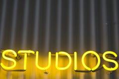 Segno degli studi Fotografia Stock