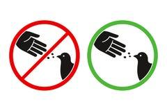 Segno degli uccelli dell'alimentazione del ` t di Don illustrazione di stock