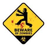 Segno degli zombie Fotografie Stock