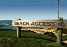 Segno dei acess della spiaggia Fotografia Stock