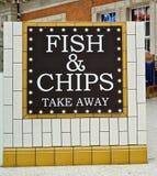 Segno dei chip e dei pesci Fotografie Stock Libere da Diritti