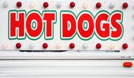 Segno dei HOT DOG Fotografie Stock Libere da Diritti
