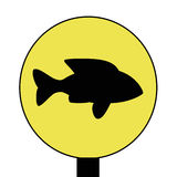 Segno dei pesci Immagini Stock Libere da Diritti