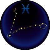 Segno dei Pisces dello zodiaco Fotografia Stock