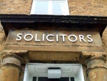 Segno dei procuratori legali segno degli uffici dei procuratori legali Fotografie Stock
