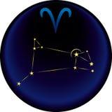 Segno del Aries dello zodiaco Immagine Stock