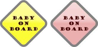 Segno del bambino a bordo immagini stock libere da diritti