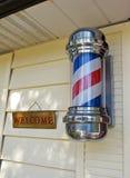 Segno del barbiere fotografia stock