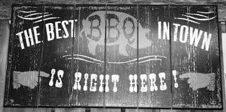 Segno del BBQ Fotografia Stock Libera da Diritti