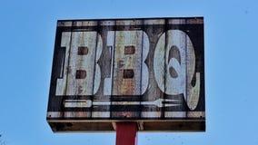 Segno del BBQ rustico Fotografie Stock Libere da Diritti