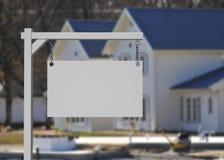Segno del bene immobile Fotografie Stock Libere da Diritti