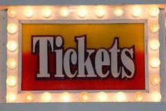 Segno del biglietto Immagini Stock