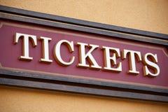 Segno del biglietto fotografia stock libera da diritti