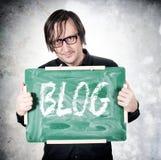 Segno del blog fotografie stock libere da diritti
