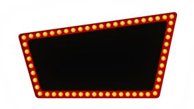Segno del bordo della luce della tenda foranea retro su fondo bianco rappresentazione 3d illustrazione vettoriale