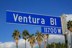 Segno del boulevard del Ventura Immagini Stock Libere da Diritti