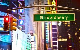 Segno del Broadway Fotografie Stock Libere da Diritti