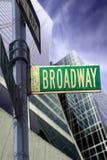 Segno del Broadway Immagini Stock Libere da Diritti