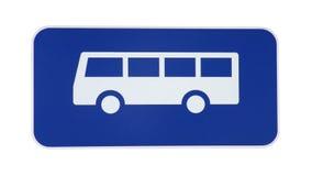 Segno del bus Fotografia Stock