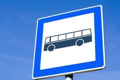 Segno del bus fotografie stock