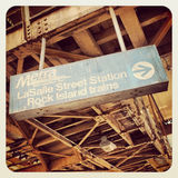 Segno del bus di Chicago CTA Fotografie Stock Libere da Diritti