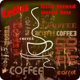 Segno del caffè Fotografia Stock