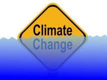 Segno del cambiamento di clima Fotografia Stock Libera da Diritti