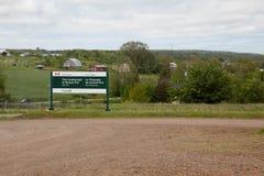 Segno del Canada dei parchi grande pre immagine stock libera da diritti