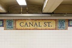 Segno del Canal Street Fotografie Stock